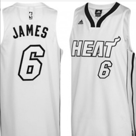 "quality design 16323 2d6e4 Lebron James ""White Hot"" Heat Jersey"